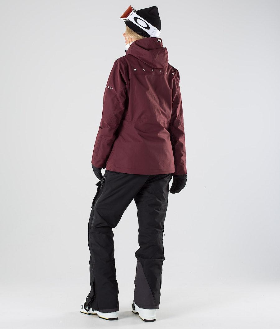 Montec Moss Veste de Snowboard Femme Burgundy