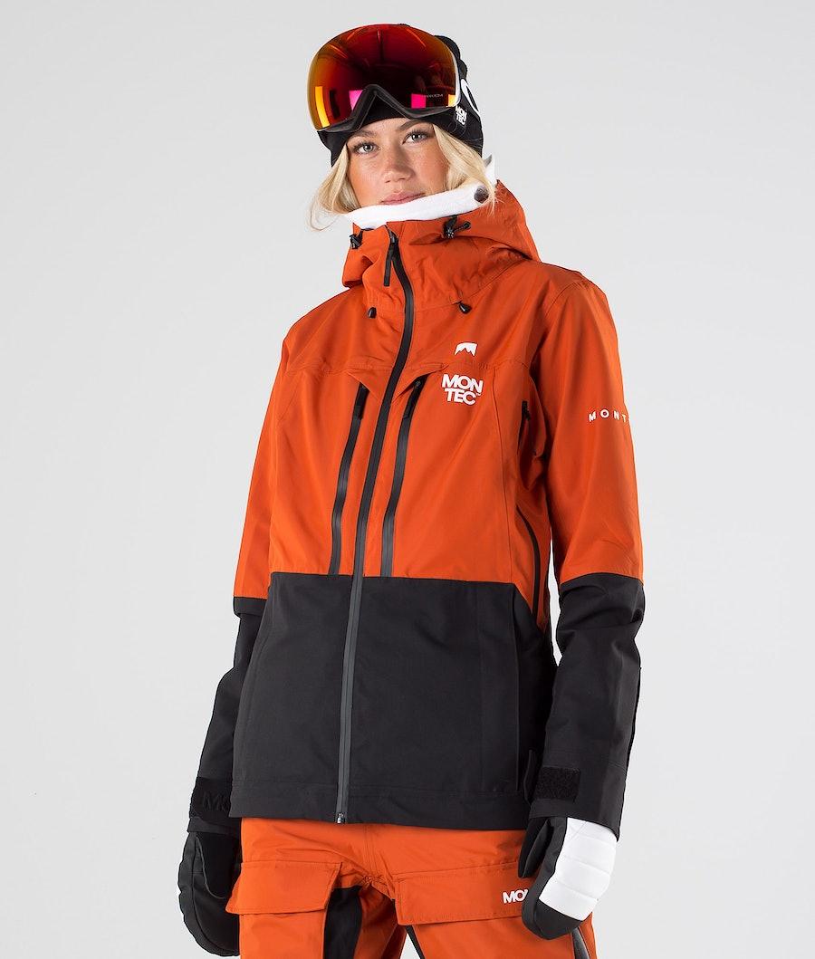 Moss Snowboard Jacket Women Clay/Black/White