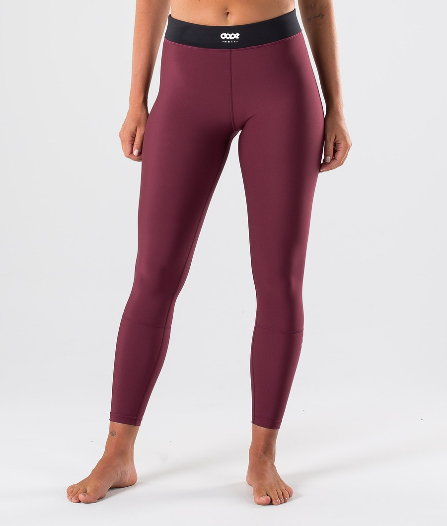 Dope Snuggle 2X-UP W Pantalon thermique Femme Burgundy