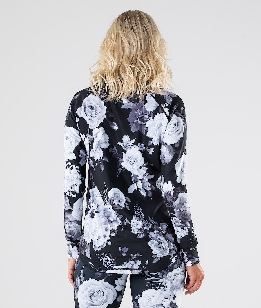 Dope Snuggle OG W Women's Base Layer Top Black Flower