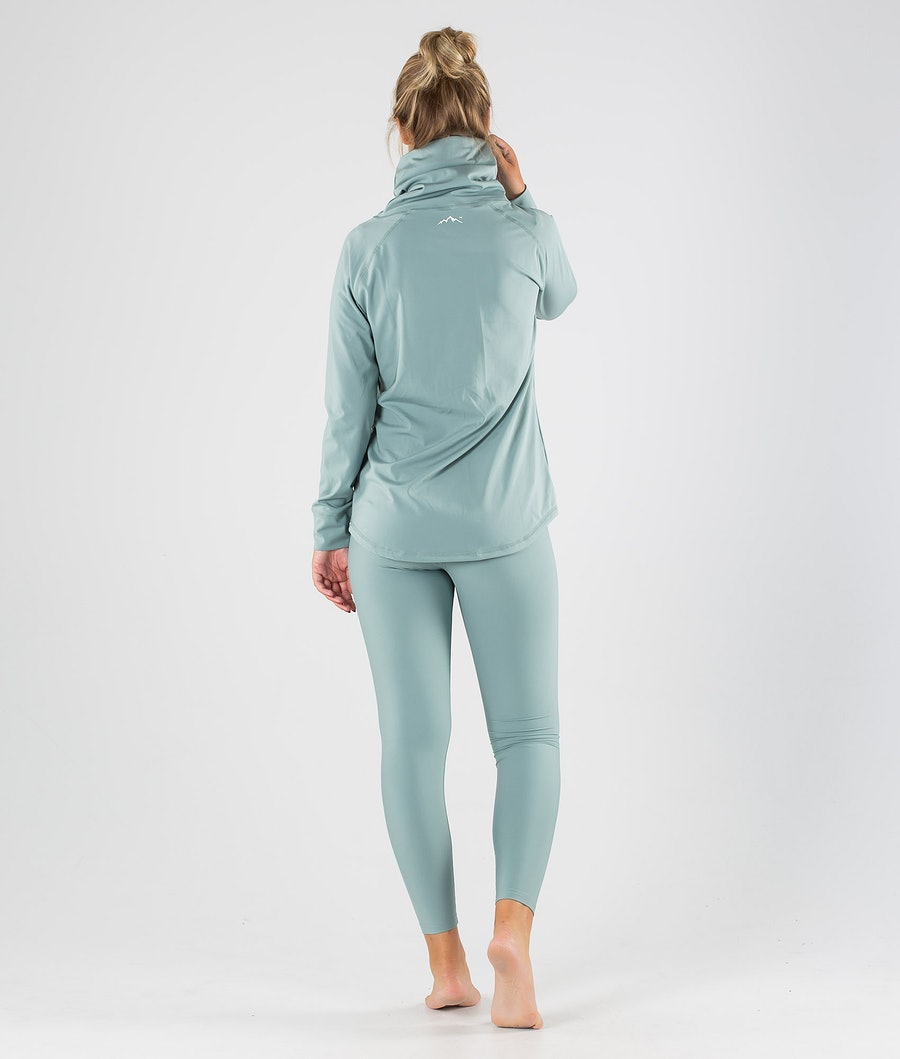 Dope Snuggle 2X-UP W Women's Base Layer Top Faded Green