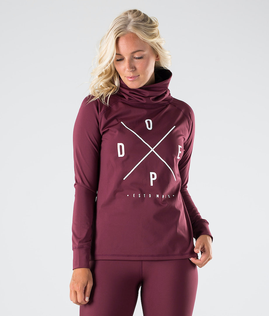 Dope Snuggle 2X-UP W Superundertøy overdel Burgundy