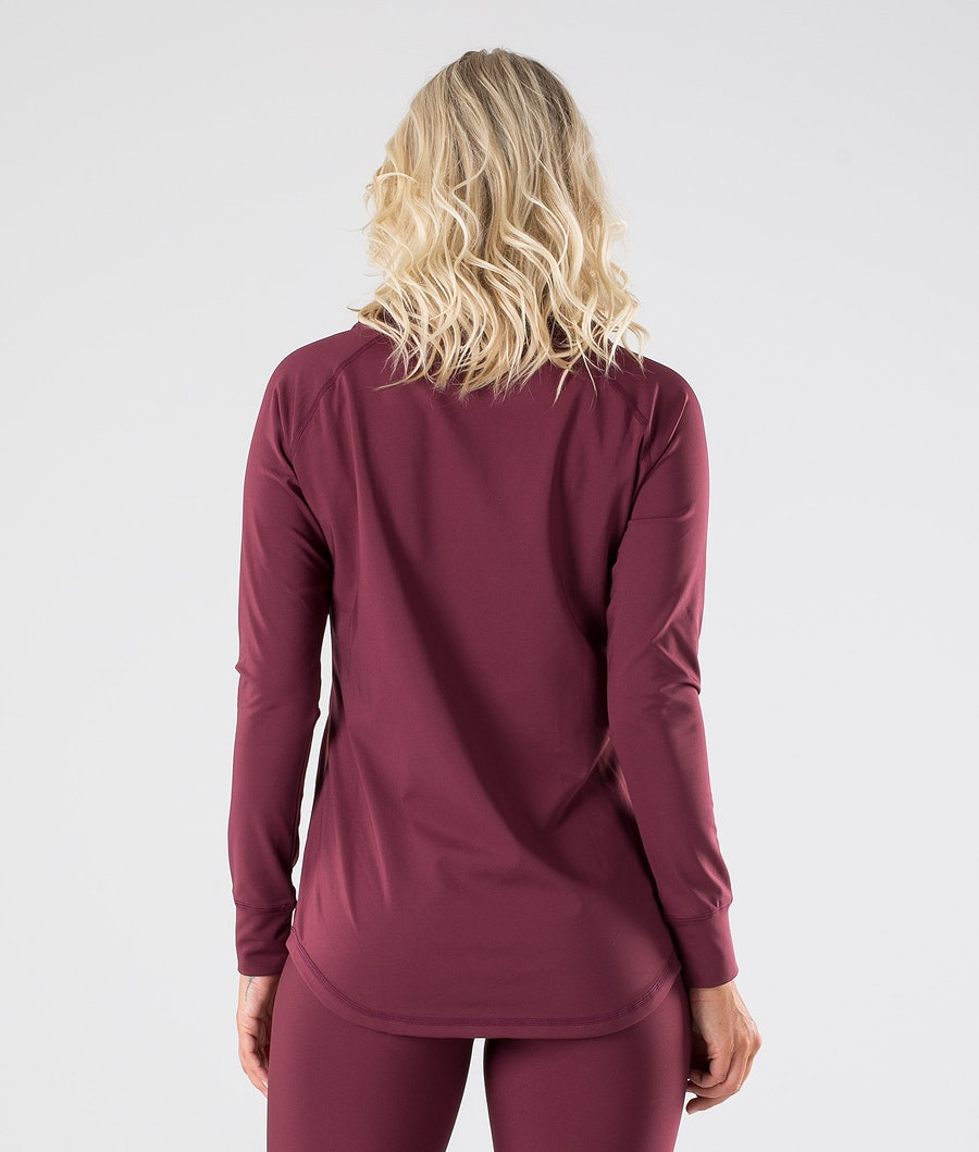 Dope Snuggle 2X-UP W Women's Base Layer Top Burgundy