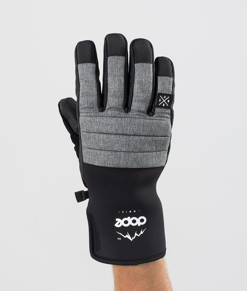 Dope Ace Glove Ski Gloves Grey Melange