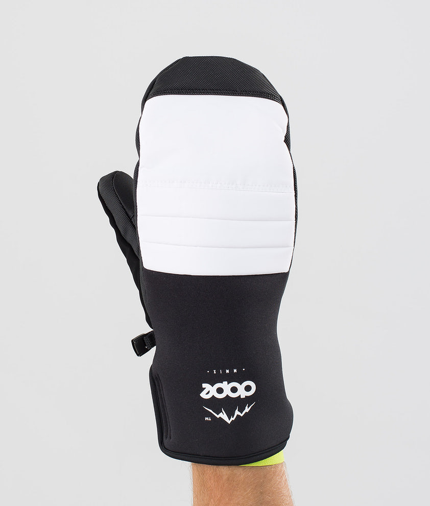 Dope Ace Mitt Ski Gloves White