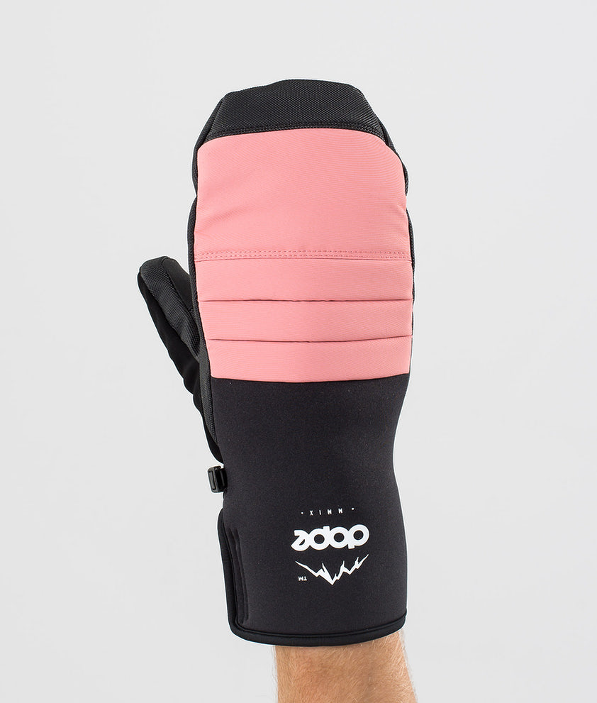 Dope Ace Mitt Ski Gloves Pink