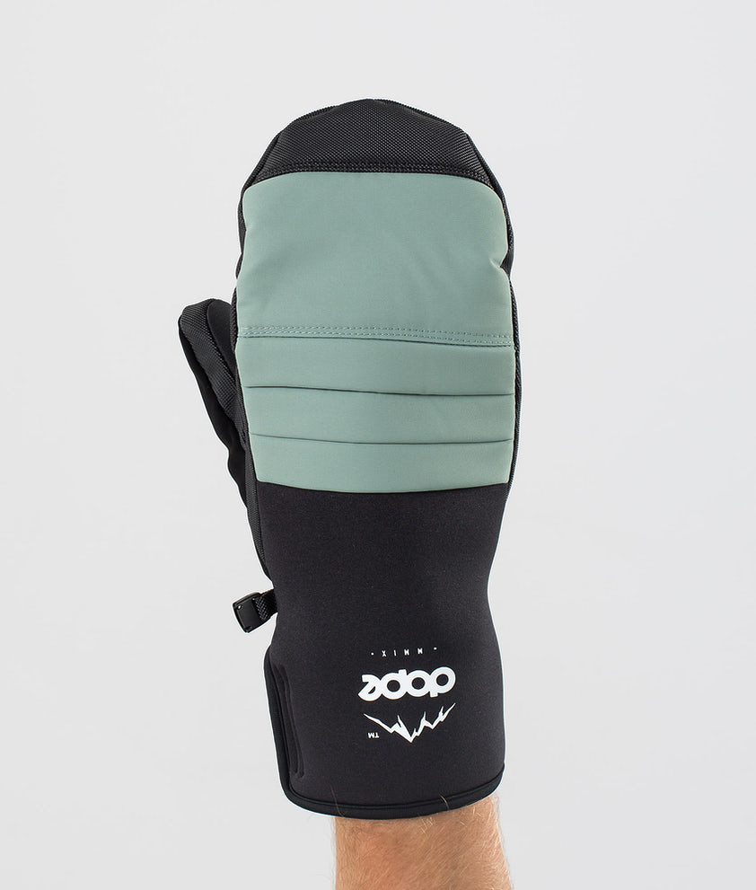 Dope Ace Mitt Ski Gloves Faded Green