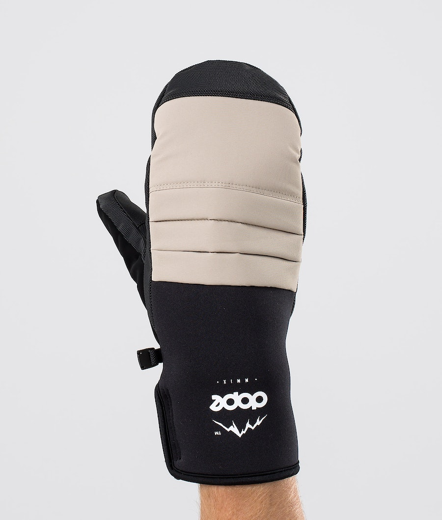 Dope Ace Mitt Ski Gloves Sand