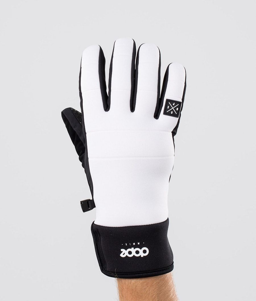 Dope Signet Glove Gants de Ski White Black