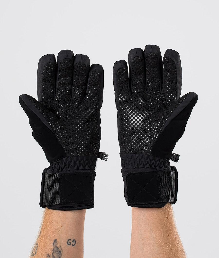 Dope Signet Glove Gants de Ski White Black