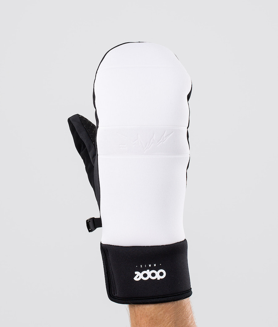 Dope Signet Mitt Ski Gloves White Black