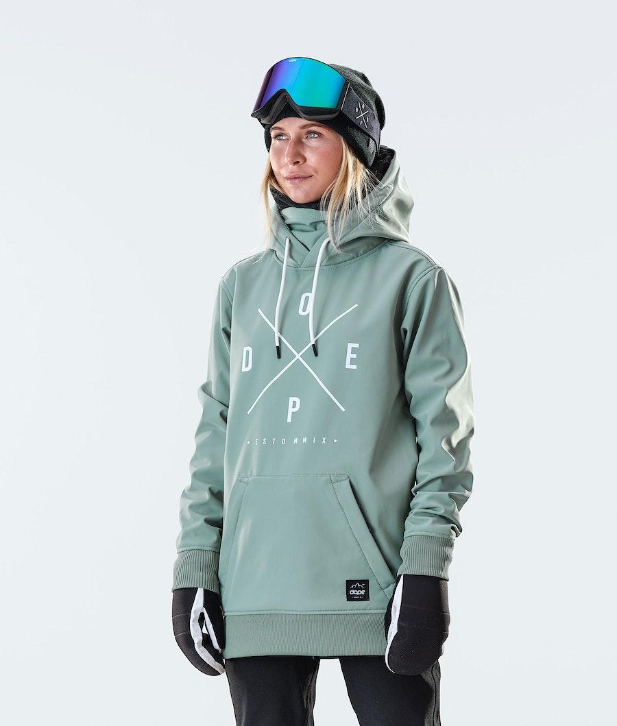 Dope Yeti W Snowboard Jacket Faded Green