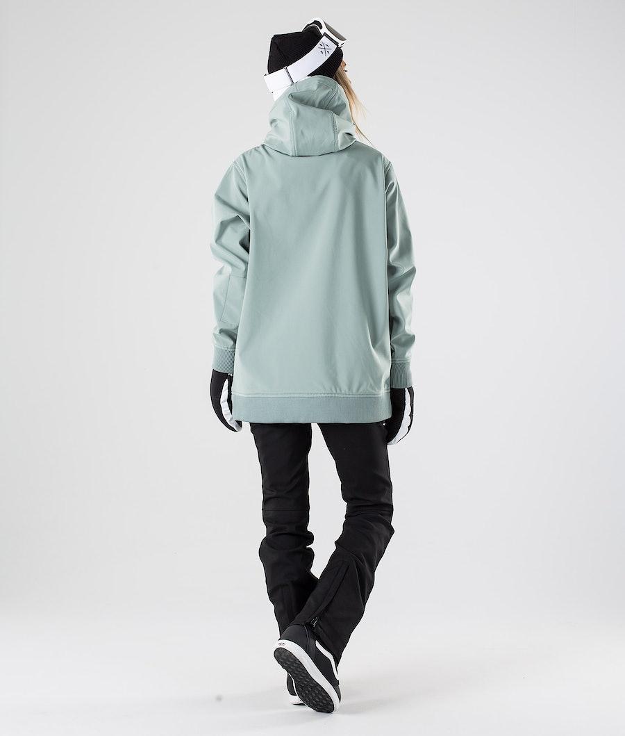 Dope Yeti W Snowboardjacke Damen Faded Green