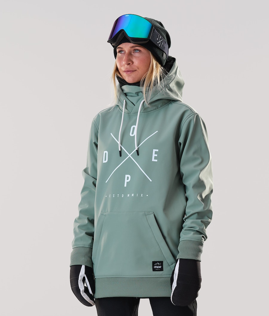 Dope Yeti W Snowboard Jacket Faded Green