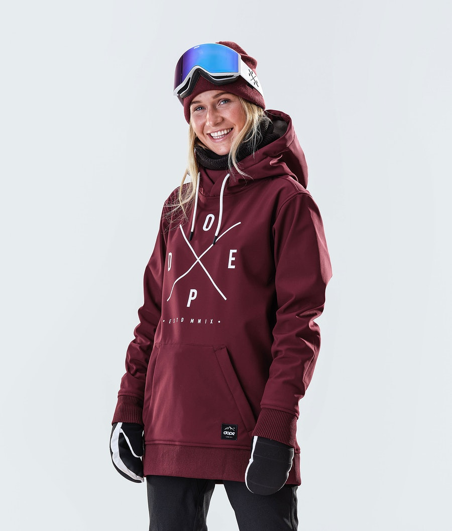 Dope Yeti W Snowboard Jacket Burgundy