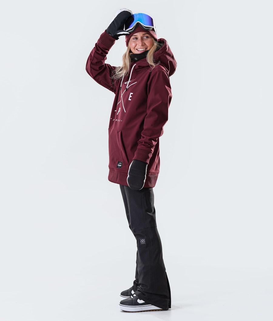 Dope Yeti W Snowboardjakke Dame Burgundy