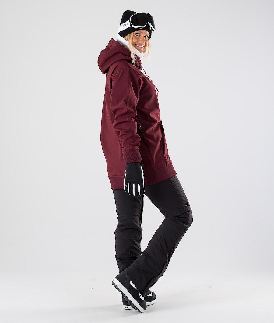 Dope Yeti W Women's Snowboard Jacket Burgundy