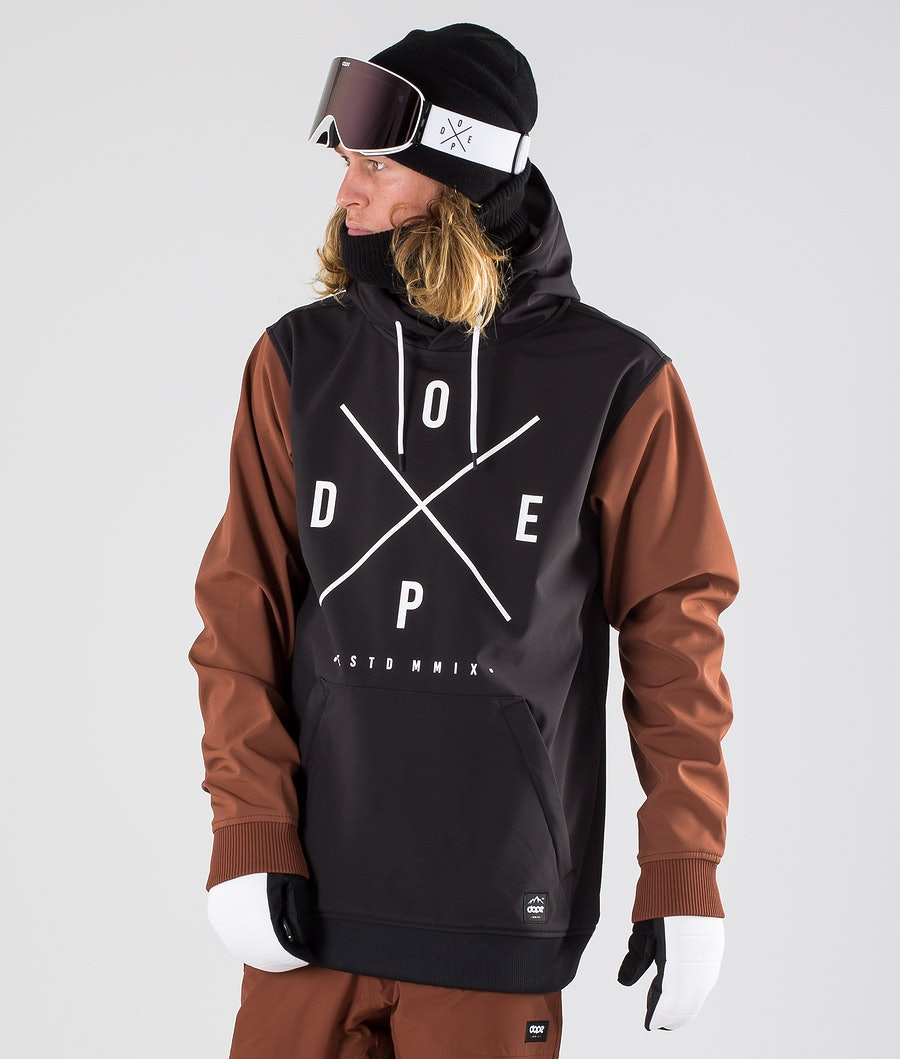 Dope Yeti Snowboardjakke Black/Adobe