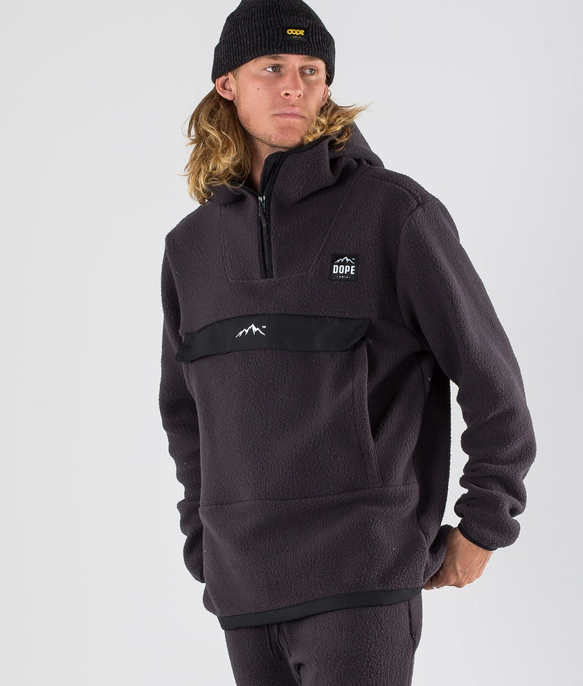 Dope Oi Fleece Hood Phantom Black