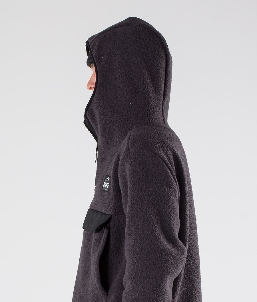Dope Oi Fleece Hoodie Phantom Black