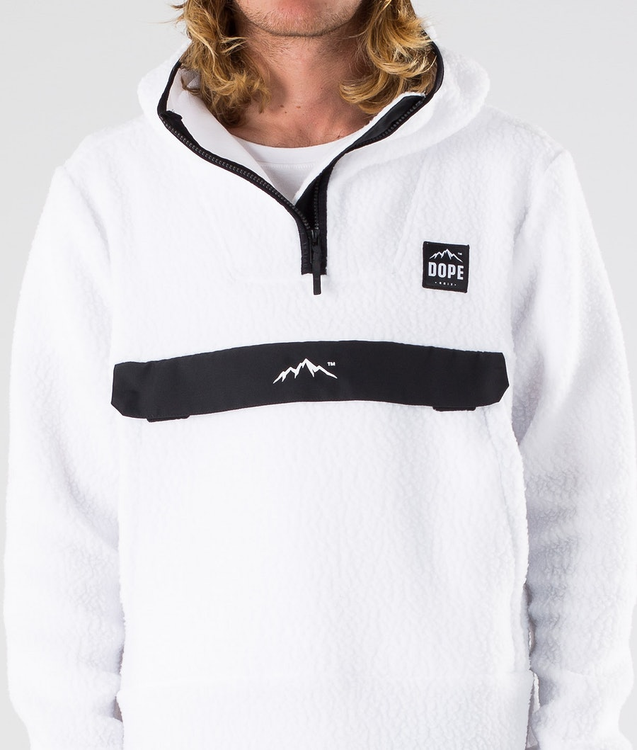 Dope Oi Fleece Hood White