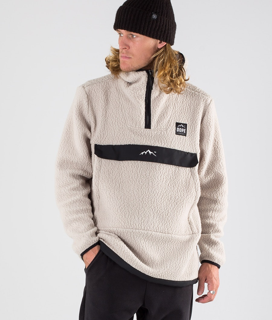 Dope Oi Fleece Hood Sand