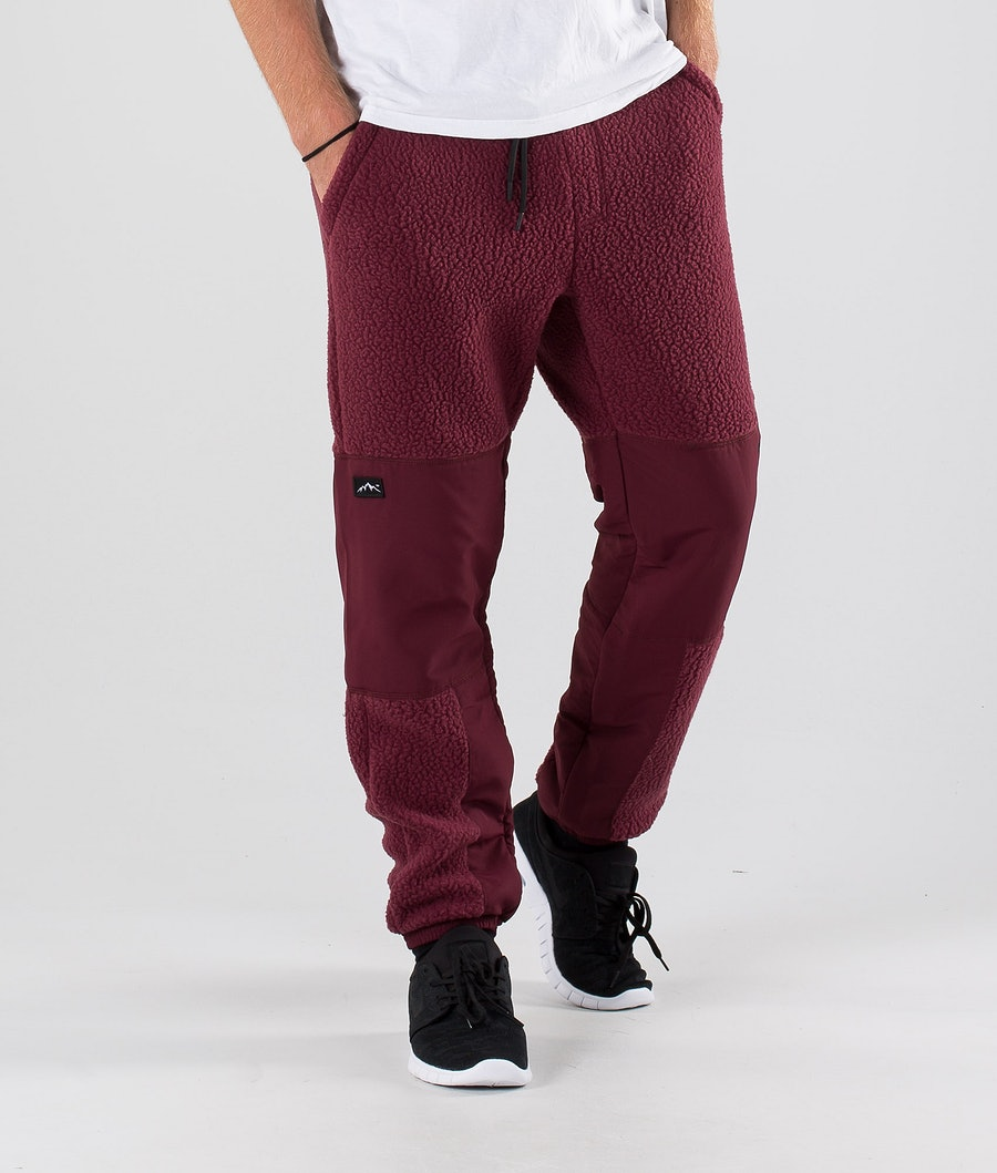Dope Ollie Fleece Pants Burgundy