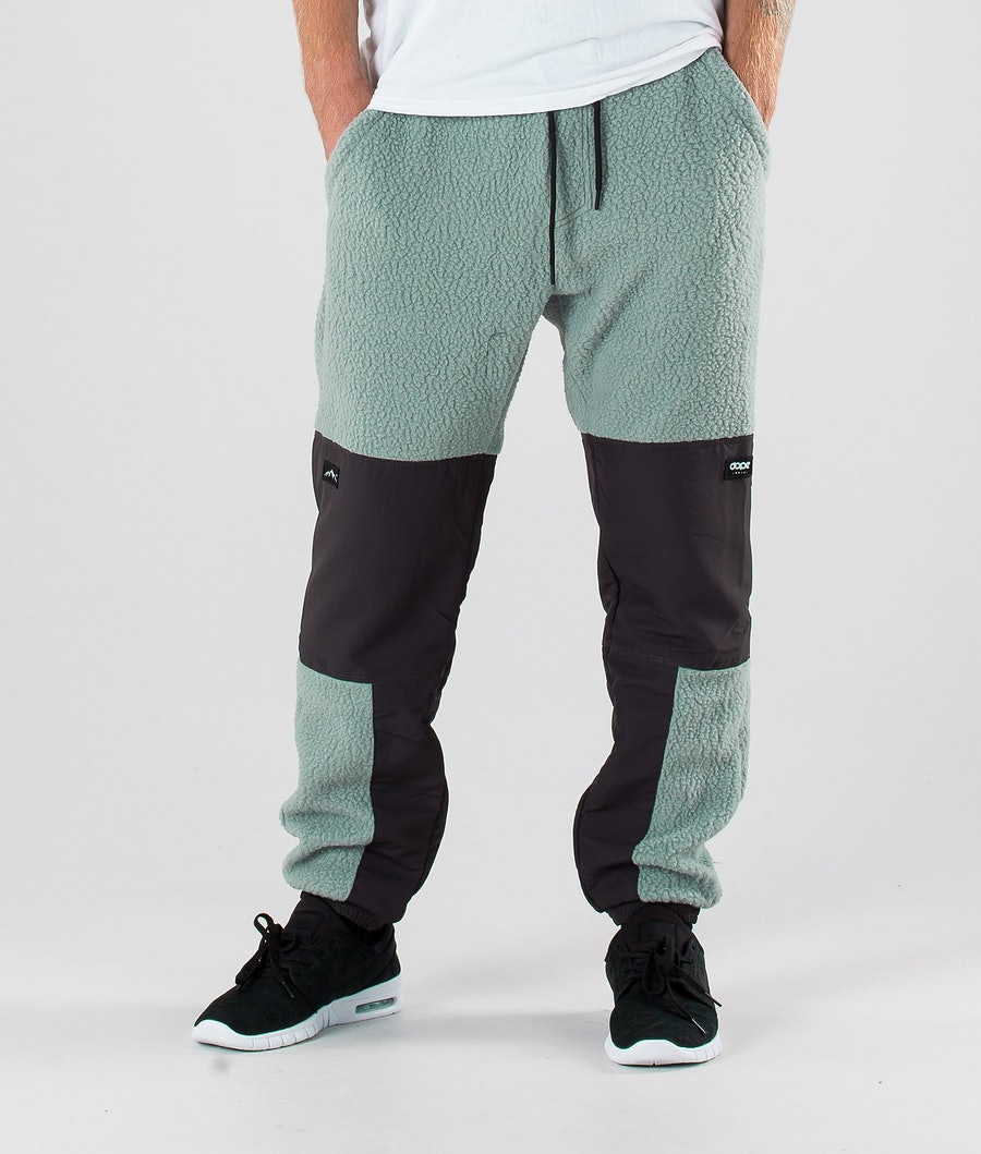 Dope Ollie Fleece Pants Faded Green Grey