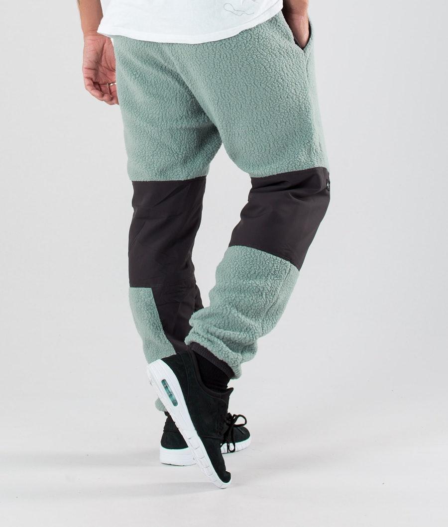 Dope Ollie Fleecebyxa Faded Green Grey