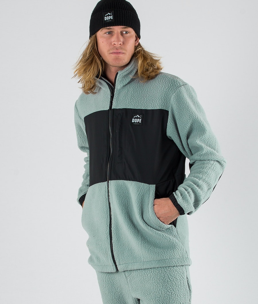 Dope Ollie Fleece Sweater Faded Green Phantom