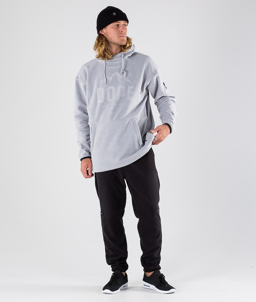 Dope Cozy Pile con Cappuccio Light Grey Melange