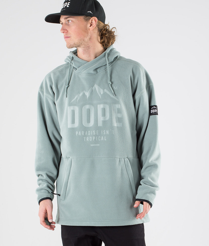 Dope Cozy Hood Faded Green
