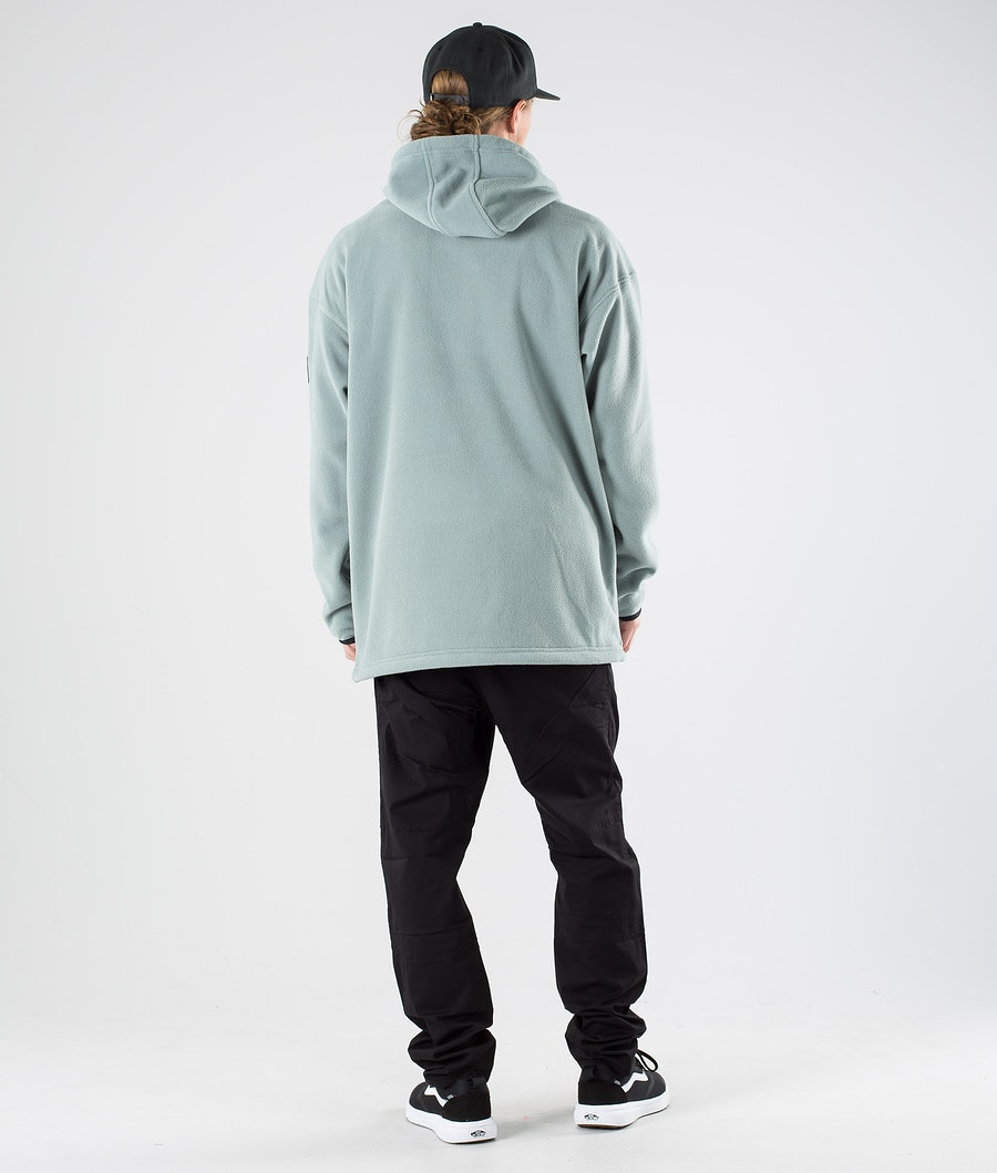 Dope Cozy Fleecehood Faded Green