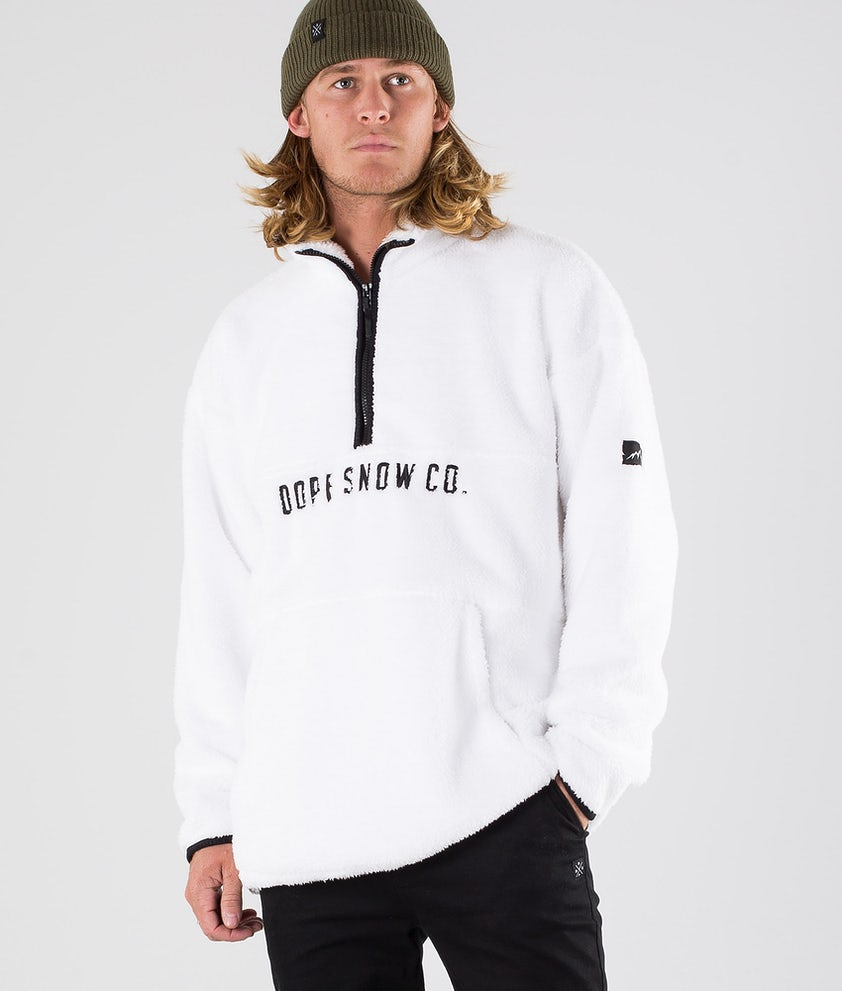 Dope Pile Fleece Trui White