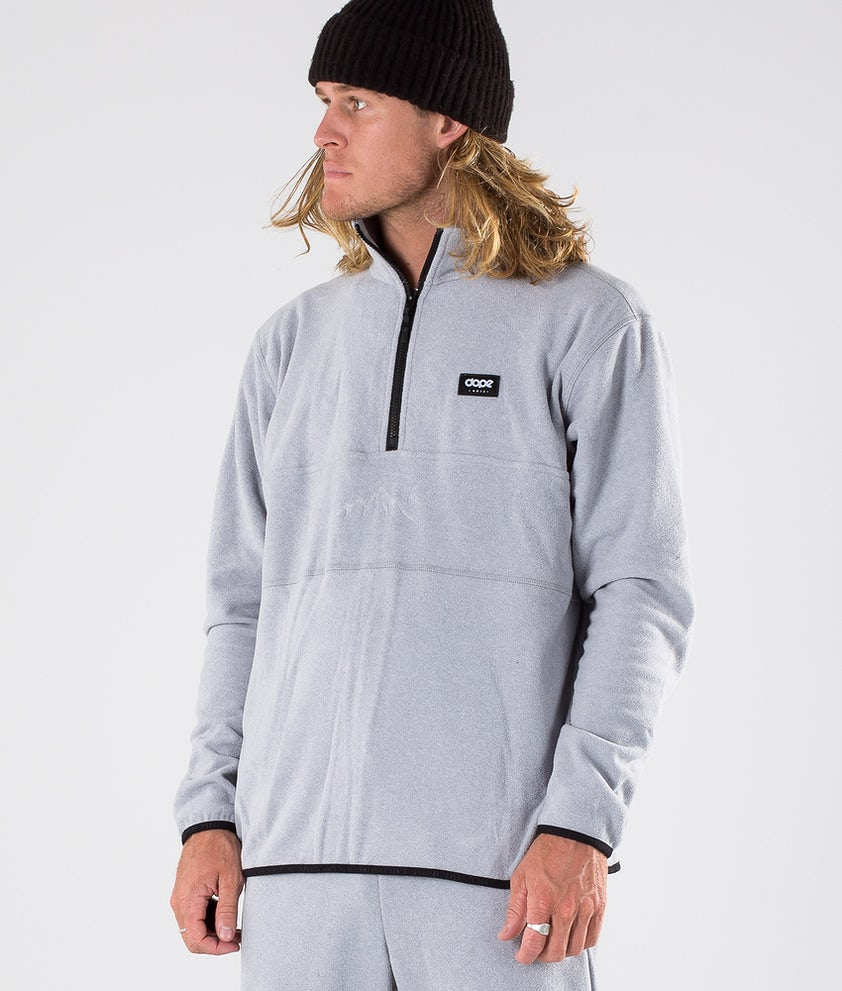 Dope Loyd Fleece Trui Light Grey Melange