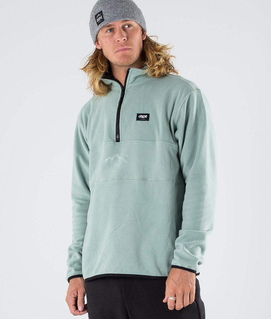 Dope Loyd Fleece Trui Faded Green