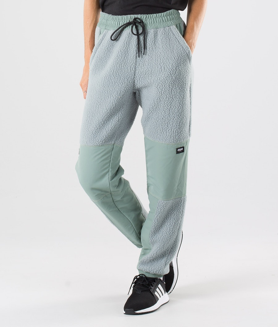 Dope Ollie W Fleece Broek Faded Green