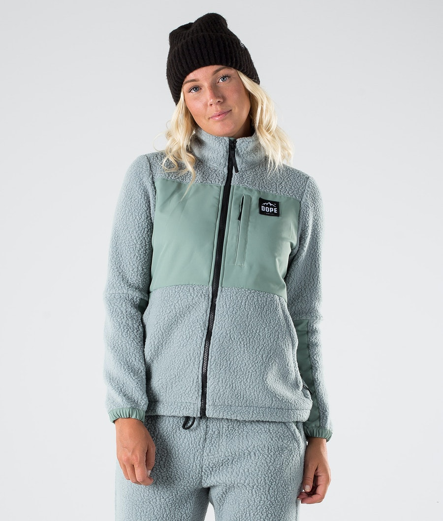 Dope Ollie W Fleece Trui Faded Green