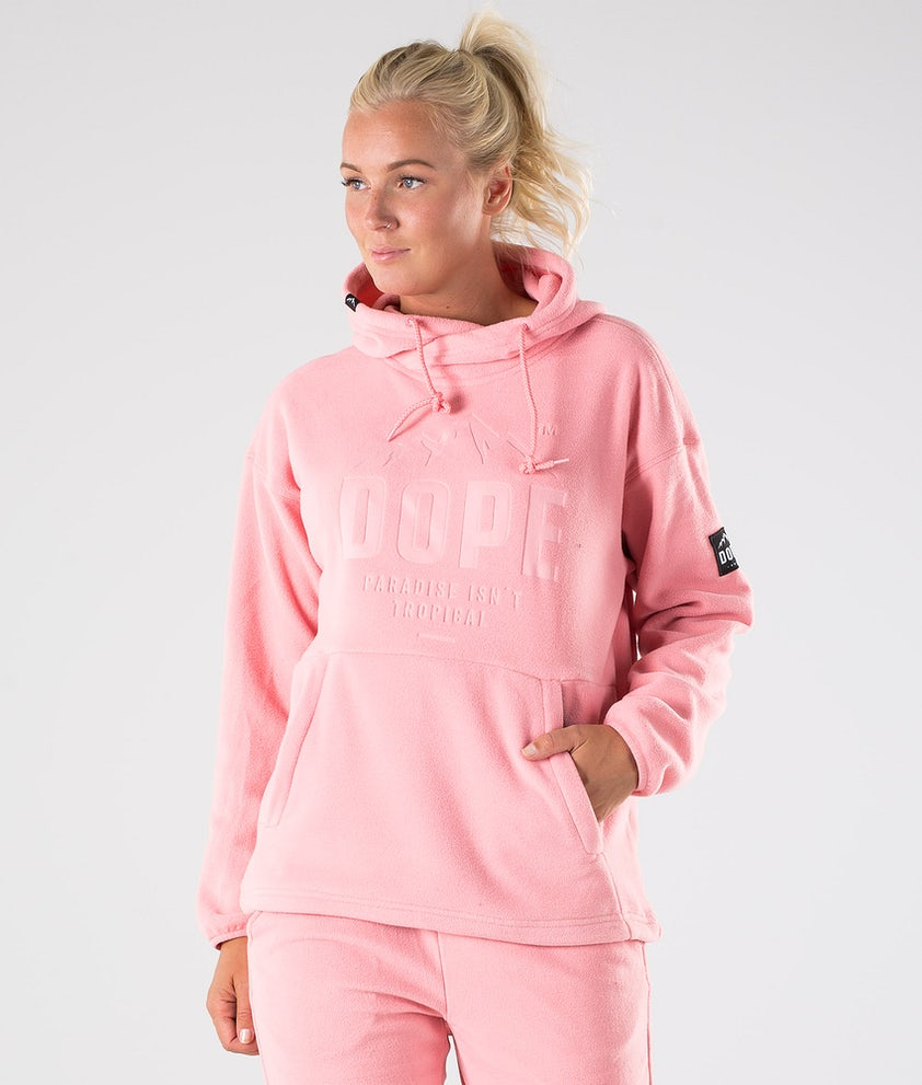 Dope Cozy W Fleece Hood Pink