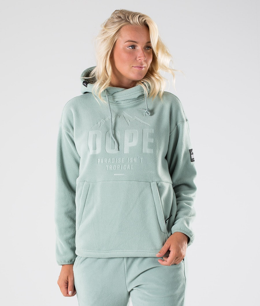 Dope Cozy W Fleece Hoodie Damen Faded Green