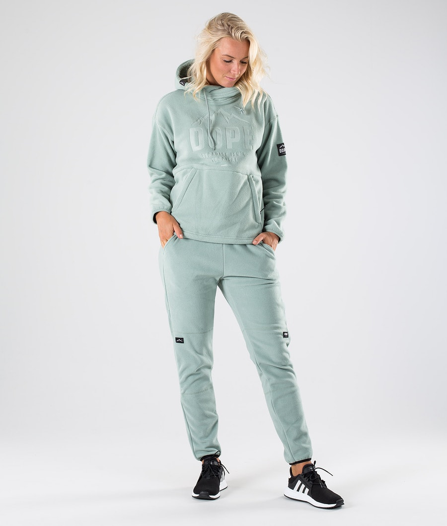Dope Cozy W Women's Fleece Hood Faded Green