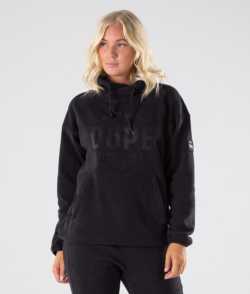 Dope Cozy W Fleece Hood Black