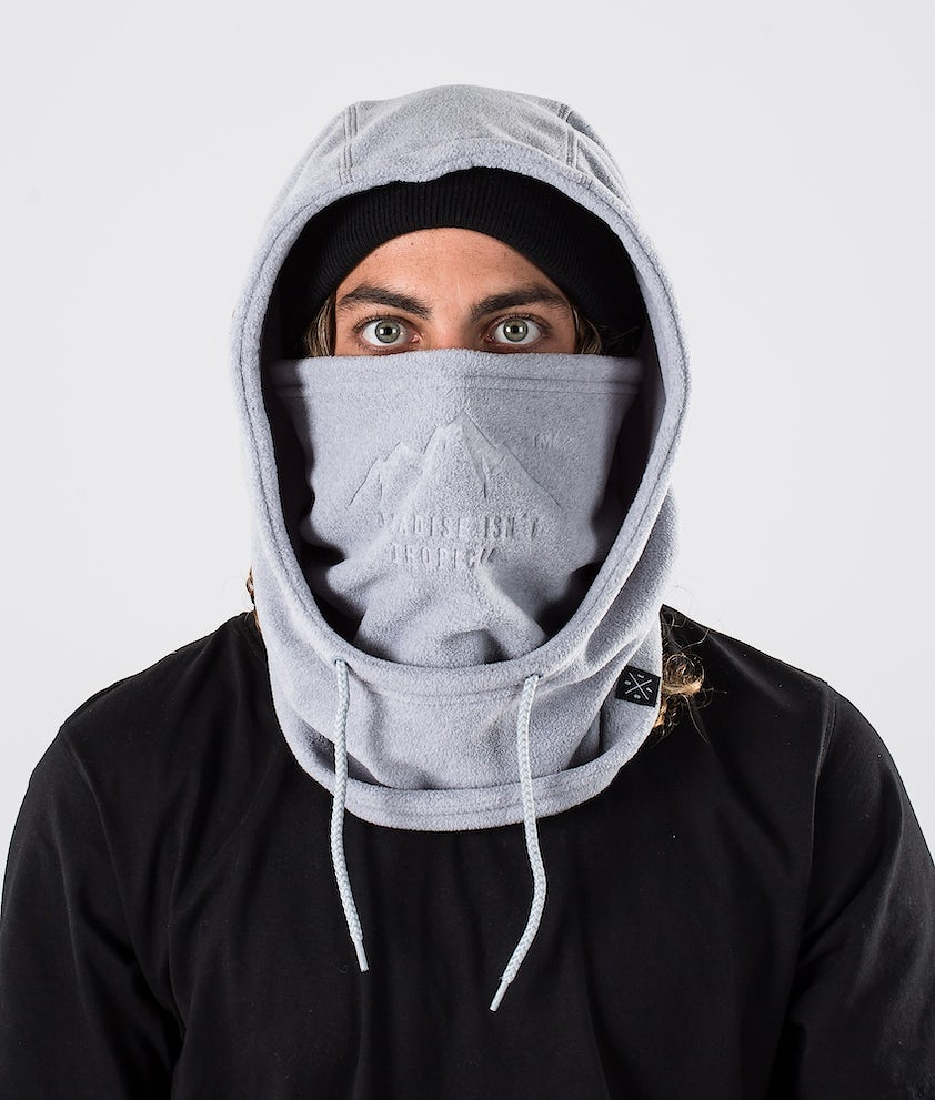 Dope Cozy Hood Facemask Light greyel