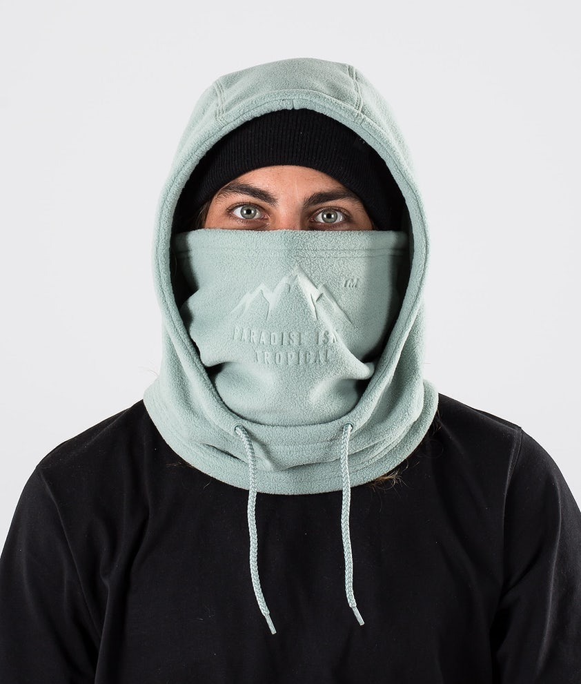 Dope Cozy Hood Ansiktsmasker Faded Green