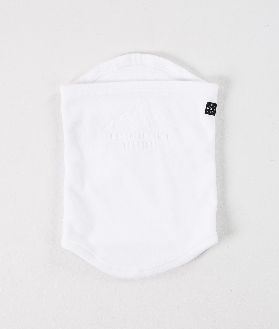Dope Cozy Tube Facemask White