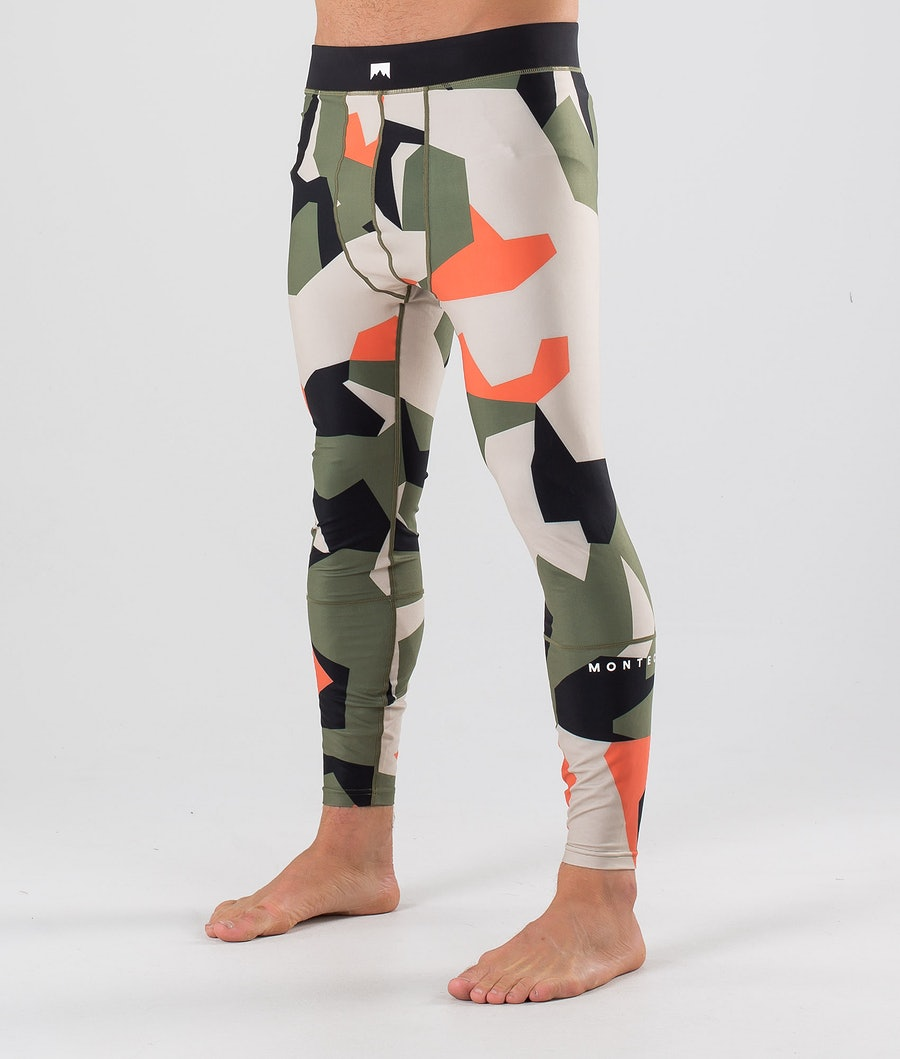 Montec Zulu Base Layer Pant Orange Green Camo