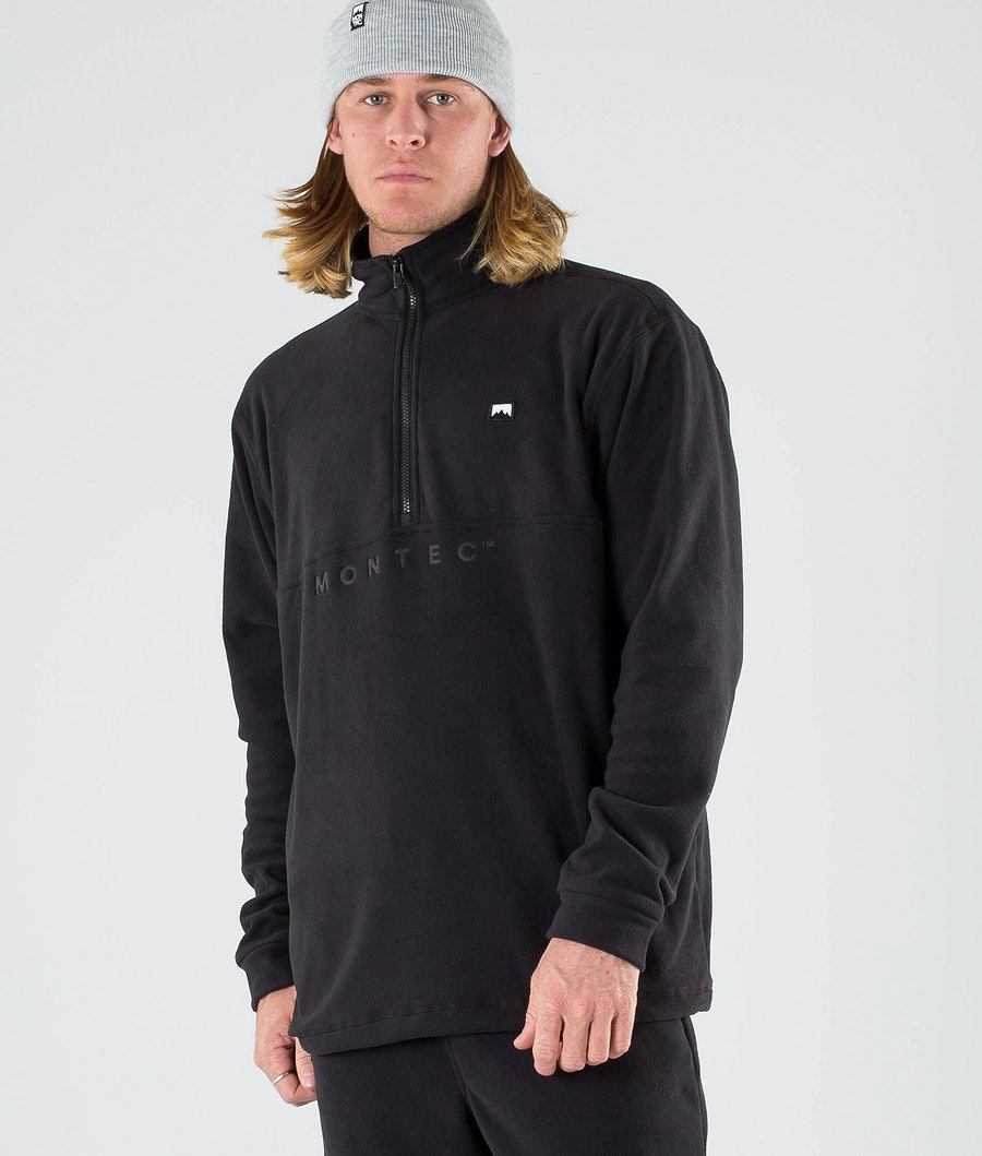 Montec Echo Fleece Trui Black