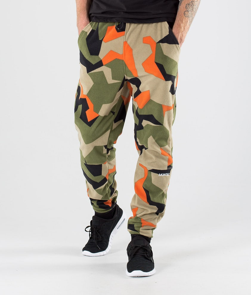 Montec Echo Fleecebyxa Green Orange Camo
