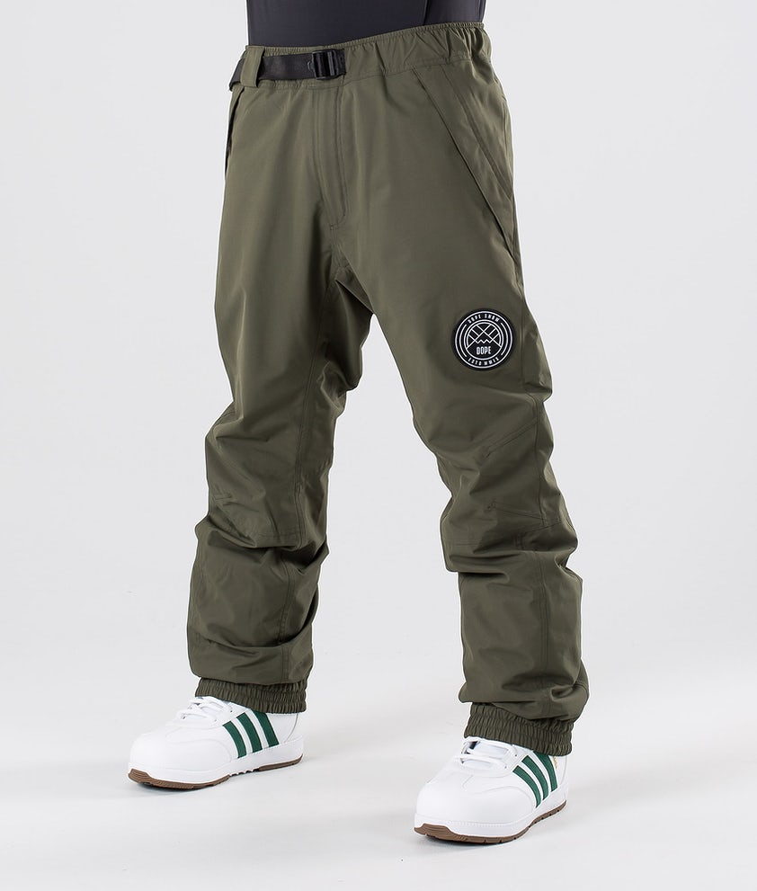Dope Blizzard Snow Pants Olive Green