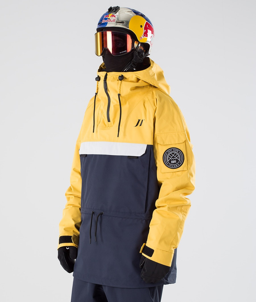 Dope JT Annok Ski Jacket Yellow Grey Marine